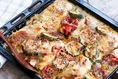 One Pan High Protein Dinner: Baked Italian Chicken and Vegetables