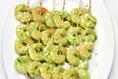 Pesto Shrimp and Vegetable Skewers