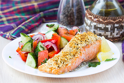 Winner Winner Fish Dinner: Baked Salmon with a Parmesan Crust