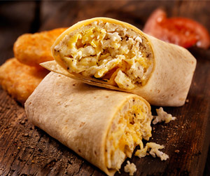 Low Carb Breakfast (or Lunch or Dinner) Burrito